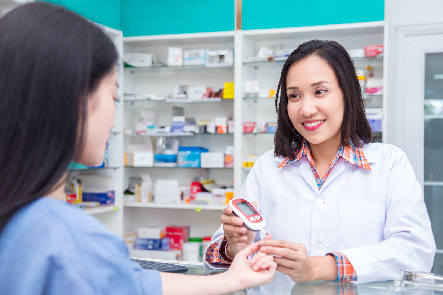Our pharmacists are all trained in checking blood sugar readings. Whether you monitor your own sugar or not, our pharmacists would be happy to check your sugar for you!